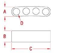 Survival Bracelet Strap 316 in. 304 Marine Grade Stainless Steel Drawing