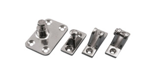 80 Degree and Heavy Duty Side Deck Hinge Stainless Steel 316 Marine Grade S3682