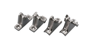 Deck Hinges Degree and Concave Stainless Steel 316 Marine Grade S3682