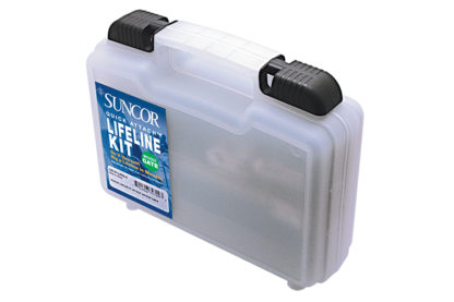 Quick Attach™ Lifeline Kit With Out Gate Fitting Closed Body 316 Marine Grade C0747-LK03-X case 0