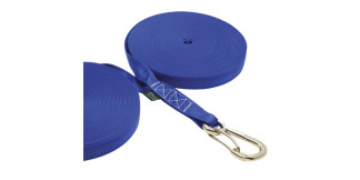 1 in Double Jackline With Clip Blue Nylon 316 Marine Grade Stainless Steel C0240-B