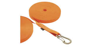 1 in Double Jackline With Clip Orange Nylon 316 Marine Grade Stainless Steel C0240-O