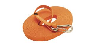 1 in Single Jackline With Clip Orange Nylon 316 Marine Grade Stainless Steel C0240-H-O