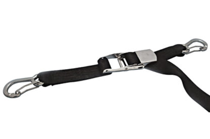 Over-Center Webbing Strap Assembly With Clips Black and Blue 304 and 316 Marine Grade Stainless Steel S0207-0525