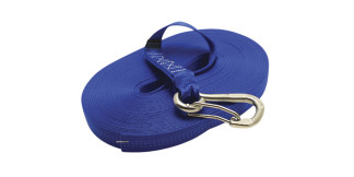 1 in Single Jackline With Clip Blue Nylon 316 Marine Grade Stainless Steel C0240-H-B