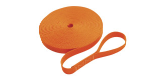 1 in Single Jackline With Loop Orange Nylon Marine Grade C0240-L-O