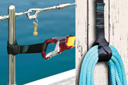 1 in Strap-It Webbing Assembly With Sewn Loop Black Nylon Marine Grade S0239-APP