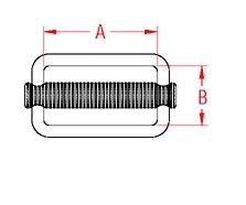 Adjustable Slide 304 Marine Grade S0216-0 Drawing