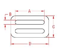Fixed Threading Plate 304 Marine Grade Drawing