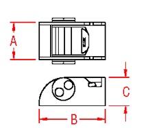 Mini Buckle 304 Marine Grade S0207-0026 Drawing